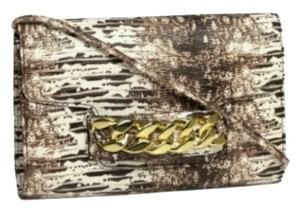 H&M Crossbody Snake Print Neutral Clutch
