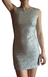 Divided by H&M Vintage Sequined Silver Dress