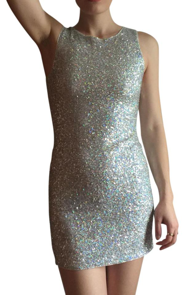 41423d7b13dcd Divided by H&M Vintage Sequined Silver Dress Image 0 ...