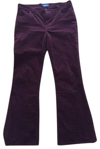 Old Navy Flare Pants Maroon / Plum