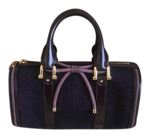 Burberry Barrel Check Bow Taylor Swift Satchel in Plum