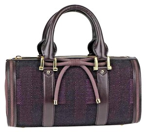 Burberry Barrel Check Bow Taylor Swift Plum Travel Bag