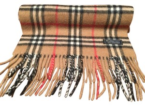 Burberry House Check Long Fringe Scarf