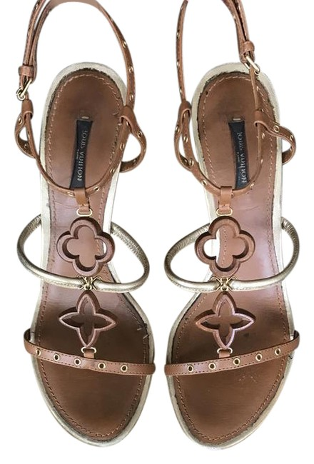 Item - Brown Andalucia Wedge Sandals Size US 10 Narrow (Aa, N)