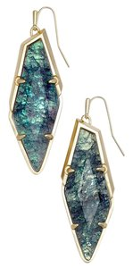 Kendra Scott New Bexley Asymetrical Drop Earrings, Navy Crackle Illusion 4217713876
