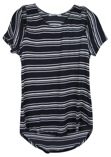Item - Navy/White Cold-shoulder Striped Blouse Size 6 (S)