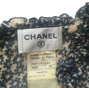 Chanel Top Blue/Cream