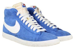 Nike Sneakers High Tops Limited Edition Vintage Blue Athletic