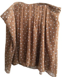 Old Navy Skirt Tan with white polka dot