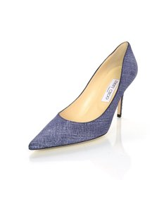 Jimmy Choo Stiletto Snakeskin Blue/denim Pumps