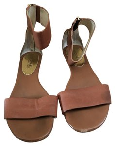 Michael Kors Gold Hardware Ankle Strap Summer Brown Sandals