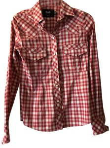 Dolce&Gabbana Button Down Shirt Red White