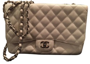 Chanel Single Flap Caviar Leather Jumbo Flap Shoulder Bag