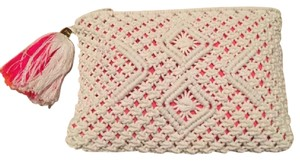 Lilly Pulitzer Crochet Casual Resort White Clutch