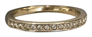 Swarovski Swarovski Gold Plated Half Eternity Ring with White Crystals - Size 8