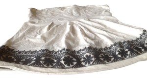 The Limited Strapless On Very Embroidery White, antique with black trim Halter Top