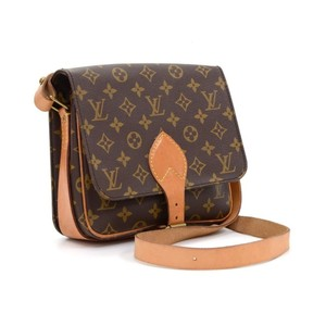 Louis Vuitton Lv Monogram Cartouchiere Mm Shoulder Bag