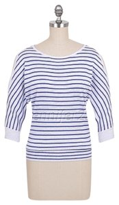 Roz & Ali Dolman Cold Striped Nautical Shimmer Sweater