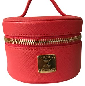 MCM color leather travel jewelry case