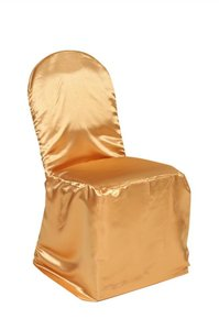 Gold Satin Banquet Chair Covers
