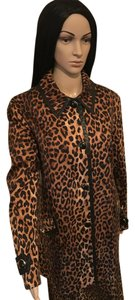 Jones New York Animal Print/Black Jacket