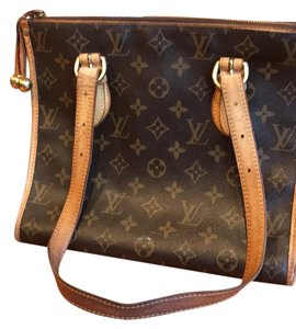 Louis Vuitton Tote in tan and brown with logos