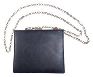 Street Level Crossbody Chain Strap Black, Gold Clutch