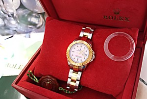 Rolex ROLEX Oyster Perpetual Yacht Master Stainless & 18K Gold Watch
