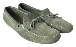 Tod's Suede Moccasin Green Flats