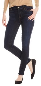 7 For All Mankind Mid Rise Skinny Jeans-Dark Rinse