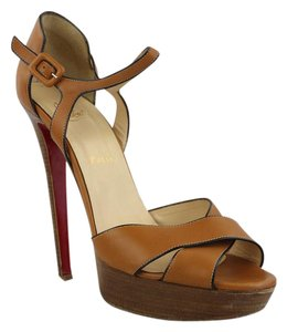 Christian Louboutin Sporting 140 Sandals Fauve Brown Pumps