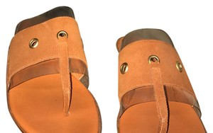 Gucci tan and brown Sandals