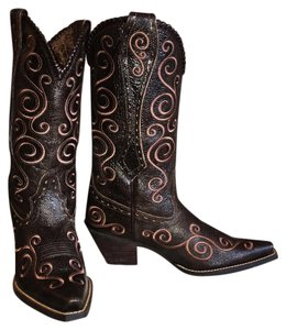 Ariat Western Cowgirl Cowboy brown Boots