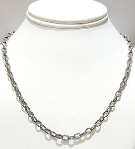 Lagos LAGOS Sterling Silver Oval Link Chain Necklace 18