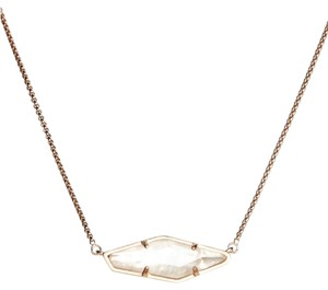 Kendra Scott New Beth Astmetrical Modern Pendant Necklace, Mother of Pearl