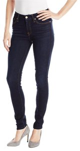 7 For All Mankind Slim Illusion Mid Rise Skinny Skinny Jeans-Dark Rinse