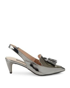 French Connection Silver Pumps