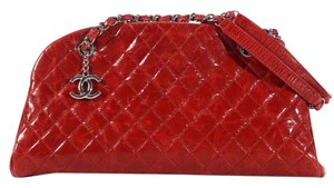 Chanel Bowling Quilted Ch.k1208.02 Calf Leather Shoulder Bag