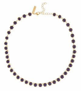 Rachel Zoe NEW Nicola Lapis Stone Mini Spike Collar Necklace