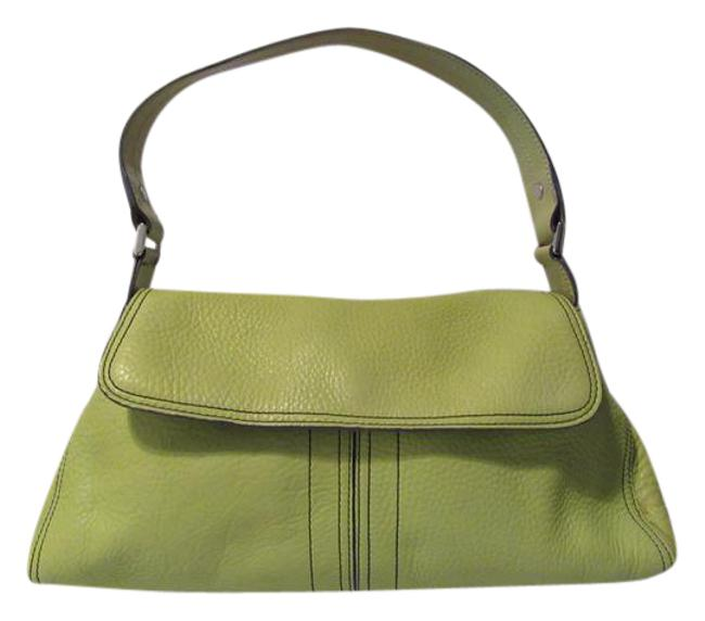 Item - Lime Green Leather Satchel