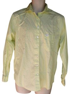 Faonnable Career Button Down Shirt Yellow-green