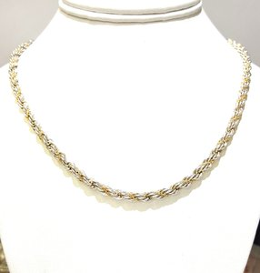 Tiffany & Co. Tiffany & Co Vintage 18K & Sterling Rope Necklace 18