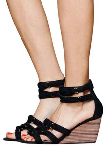 Farylrobin Free People Black Wedges