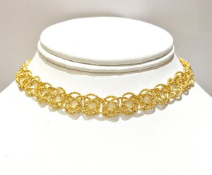 DeWitt's Beautiful Rare 14K Gold Knitted Choker Necklace