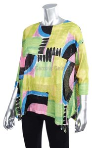 Joseph Ribkoff Textured Oversized Short Sleeve Ribkoff Graphic Tunic