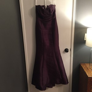 David's Bridal Plum Davids Bridal Bridesmaid Dress Dress