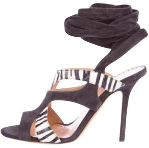Alexa Wagner Charcoal suede Sandals