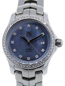 TAG Heuer Tag Heuer Link Stainless Blue Diamond Dial Ladies Watch-wjf131
