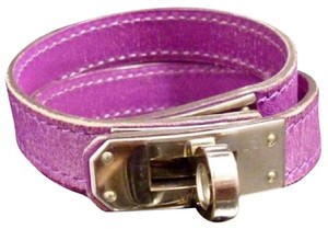 Hermès Lavender Leather Kelly Double Wrap Bracelet