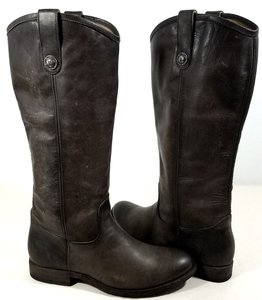 Frye Vintage Leather Buttons Distinguish True To Size Style No. 77172 Extended Calf Slate Boots